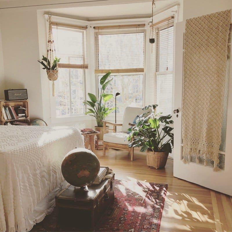 tại sao không nên để cây xanh trong phòng ngủ